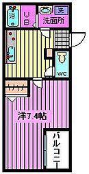 アレーゼ東浦和[203号室]の間取り