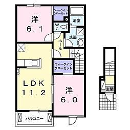 カーサ ブローテA[2階]の間取り