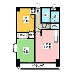 エクセル多加木[3階]の間取り