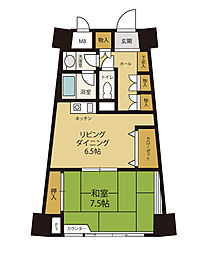 グランドウィング舞子高原[10階]の間取り