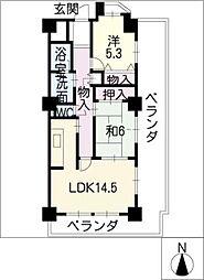 ガーデンセラム[2階]の間取り