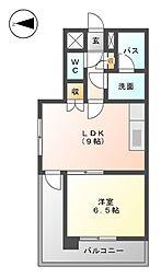 パセール青柳[2階]の間取り