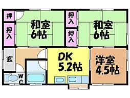 [一戸建] 愛媛県松山市北土居4丁目 の賃貸【愛媛県 / 松山市】の間取り