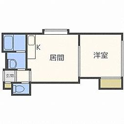プレミエール東札幌[4階]の間取り
