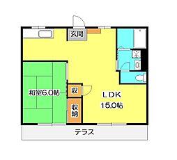 サヤマハウスD棟[1階]の間取り
