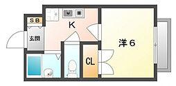 CASA−N・F[2階]の間取り