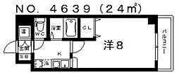 ロイヤルコート華[603号室号室]の間取り