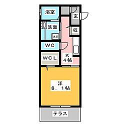 クレアクール[1階]の間取り