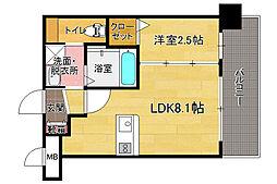 ドゥーエ赤坂[3階]の間取り