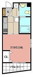 古船場タカヤコーポレーションビル 3階1Kの間取り
