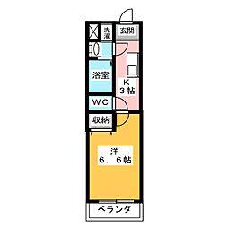 KNOTS SAKURADAI Sta 1階1Kの間取り
