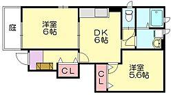 福岡県糟屋郡粕屋町長者原東7の賃貸アパートの間取り
