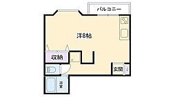兵庫県西宮市甲子園網引町の賃貸アパートの間取り