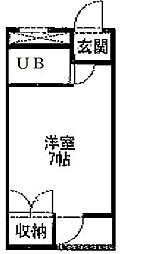 愛知県名古屋市熱田区森後町の賃貸マンションの間取り