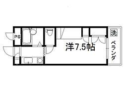 セレーネ田辺4[102号室]の間取り