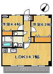 アークデュオ仙台宮町[1階]の間取り