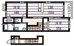 グリーン・ヴィラII[2階]の間取り