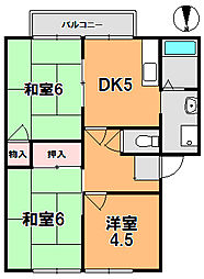 タモサーチA[1階]の間取り