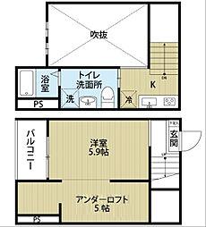 Bleu Ciel 千竈通 (ブルーシエルチカマトオリ)[2階]の間取り