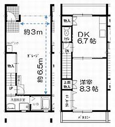 [タウンハウス] 愛知県豊川市桜町3丁目 の賃貸【愛知県 / 豊川市】の間取り