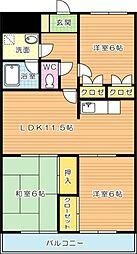 エクセル青葉台I[5階]の間取り