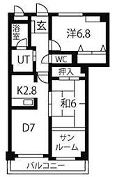 フォレスト・ワン[2階]の間取り