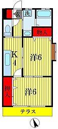 小溝コーポ[1階]の間取り