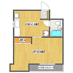 First Tanaka Mansion[5階]の間取り