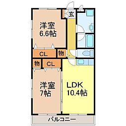桜ユーミーマンション[1階]の間取り