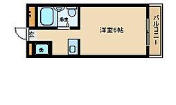 旭町ハイツ[3階]の間取り