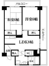 山本興産ビル[5階]の間取り