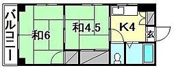 第五シャトレイレブン[406 号室号室]の間取り