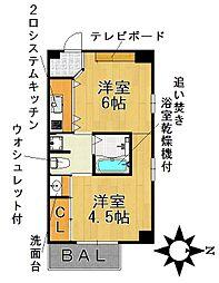 愛知県名古屋市千種区姫池通3丁目の賃貸マンションの間取り