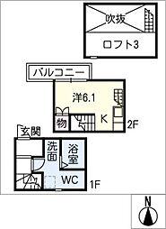 [タウンハウス] 愛知県清須市上条1丁目 の賃貸【愛知県 / 清須市】の間取り
