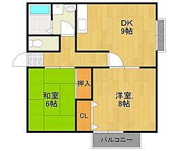 エスポワール伊丹桜ヶ丘2[3階]の間取り
