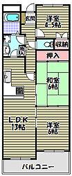 セルサス新家[2階]の間取り