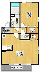 クレール・エスパス[2階]の間取り