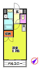 カーティアスSEKIYA[1階]の間取り