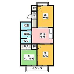 コーポ豊[2階]の間取り