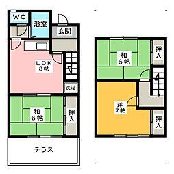 [テラスハウス] 三重県桑名市長島町十日外面 の賃貸【三重県 / 桑名市】の間取り
