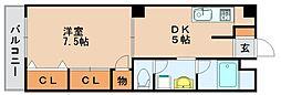 第5よしみビル[4階]の間取り