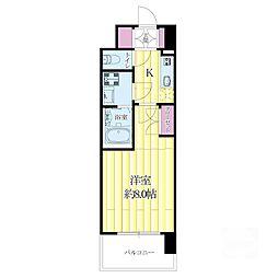 WGB江坂[4階]の間取り