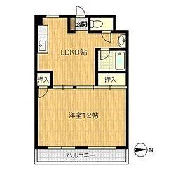 上新庄ビューハイツ[6階]の間取り