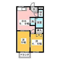 シティハイツ青木[2階]の間取り