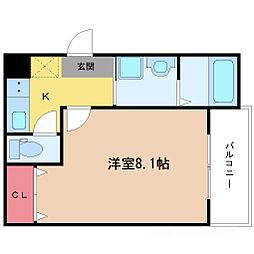 フジパレス新高II番館[1階]の間取り