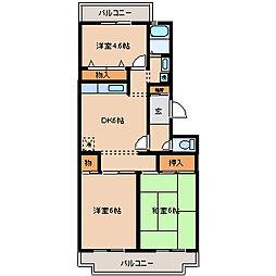 松戸ハイツ[302号室]の間取り