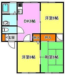 サンライフ衣笠II[1階]の間取り