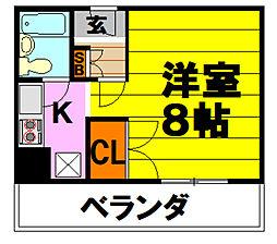 大阪府茨木市南春日丘7丁目の賃貸マンションの間取り
