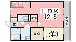 ラフレシールA棟[105号室]の間取り