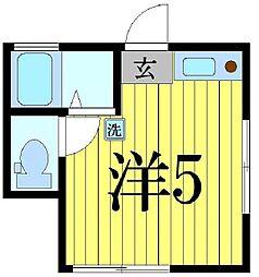 東京都足立区島根1の賃貸アパートの間取り